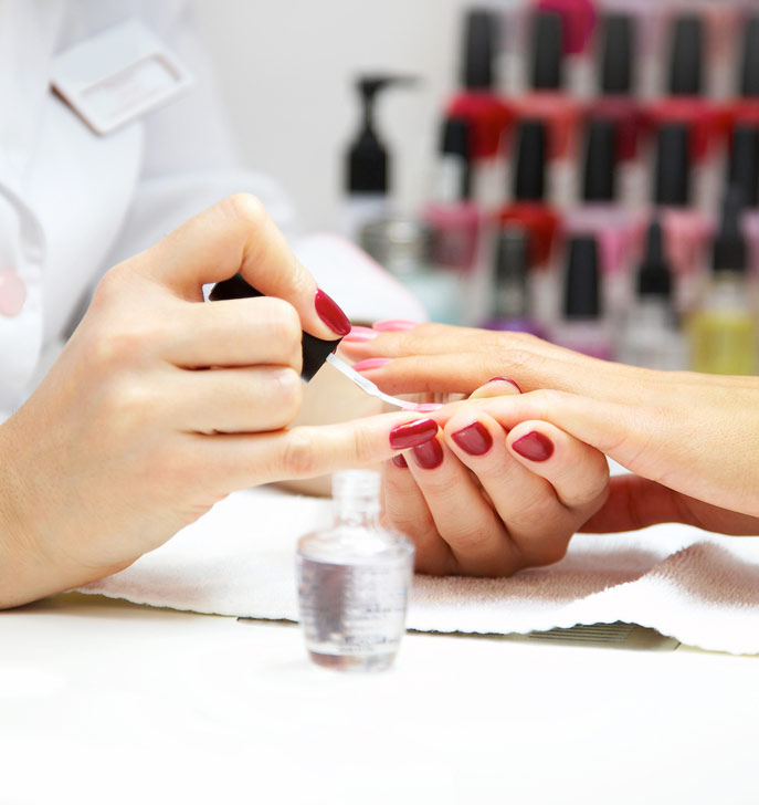 Manicure at TLC Beauty Salon